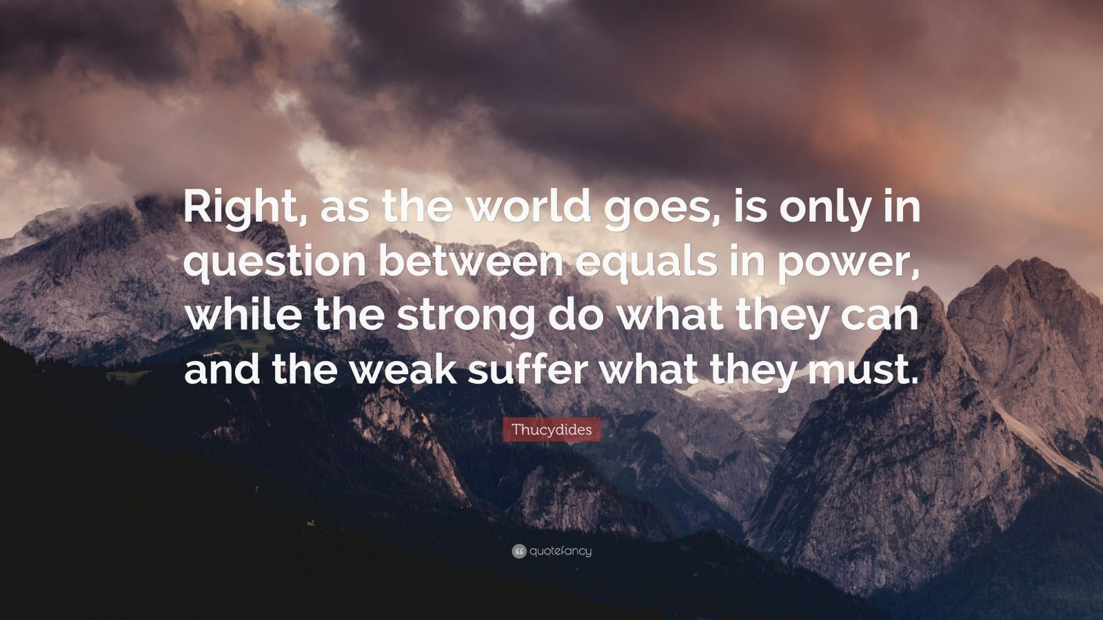 and the weak suffer what they must epub
